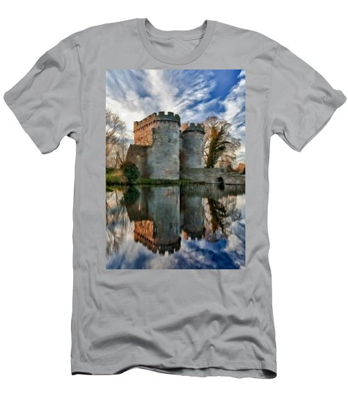 Ancient Whittington Castle In Shropshire England Men's T-Shirt (Athletic Fit)