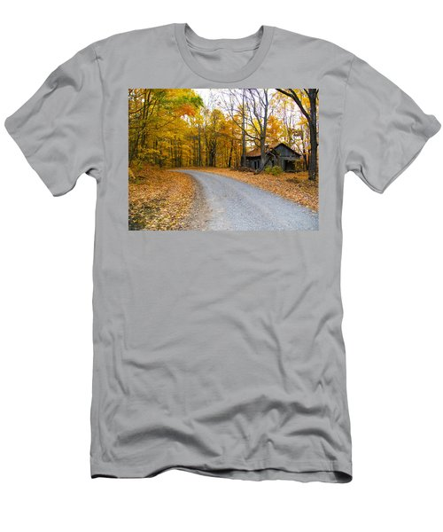 Autumn And The Old House Men's T-Shirt (Athletic Fit)