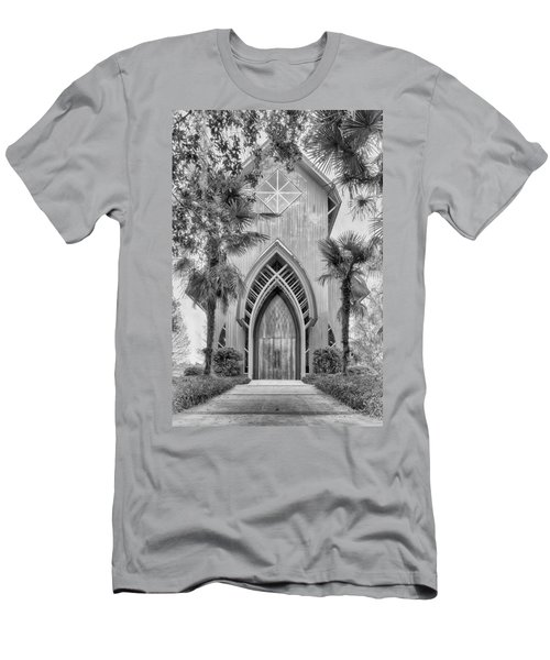 Men's T-Shirt (Athletic Fit) featuring the photograph Baughman Meditation Center  by Howard Salmon