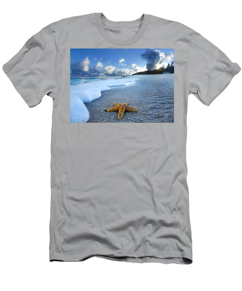 Blue Foam Starfish Men's T-Shirt (Athletic Fit)