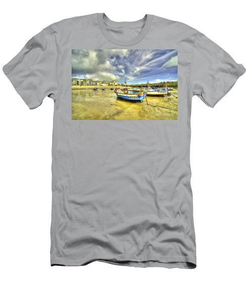 Boats At St Ives  Men's T-Shirt (Athletic Fit)