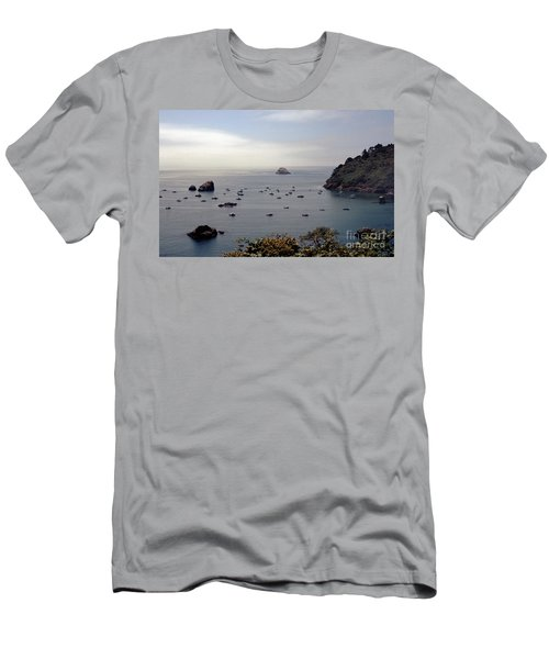 Men's T-Shirt (Slim Fit) featuring the photograph Busy Harbor by Sharon Elliott