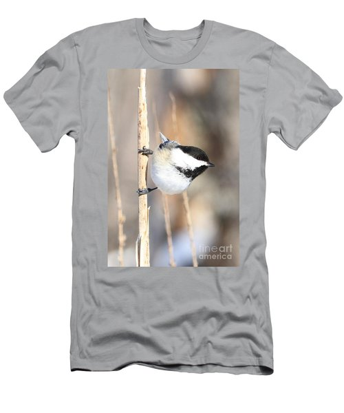 Black Capped Cutie Men's T-Shirt (Slim Fit) by Heather King