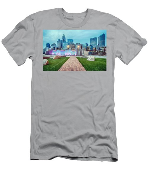 Charlotte City Skyline In The Evening Men's T-Shirt (Athletic Fit)