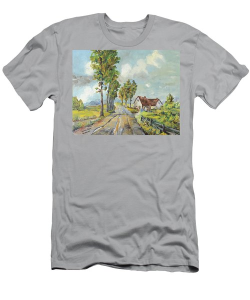 Cottage On Poplar Lane Men's T-Shirt (Athletic Fit)