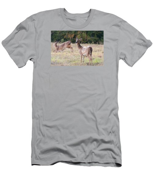 Men's T-Shirt (Slim Fit) featuring the photograph Deer At Paynes Prairie by Paul Rebmann