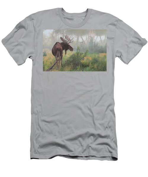 Men's T-Shirt (Athletic Fit) featuring the painting Early Morning Mist by Tammy Taylor