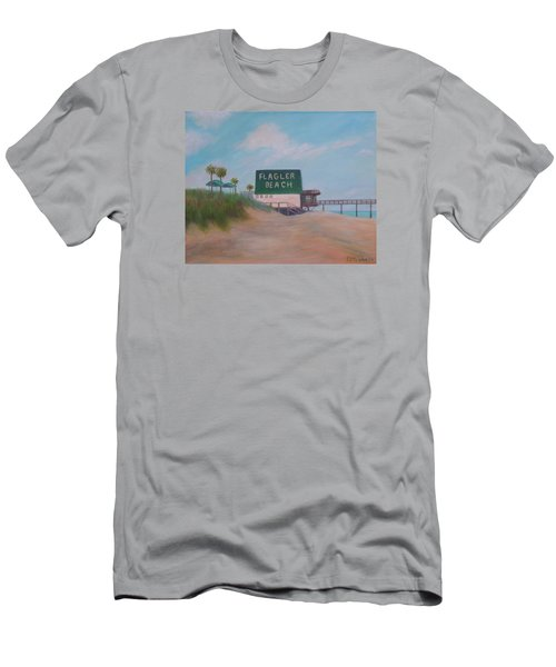 Flagler Beach Florida Men's T-Shirt (Athletic Fit)