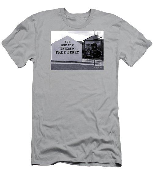 Free Derry Corner Men's T-Shirt (Slim Fit) by Nina Ficur Feenan