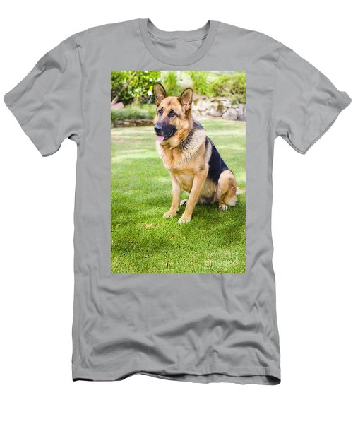 German Shepherd Dog Learning Obedience Training Men's T-Shirt (Athletic Fit)