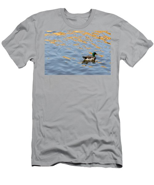 Golden Ripples Men's T-Shirt (Slim Fit) by Keith Armstrong