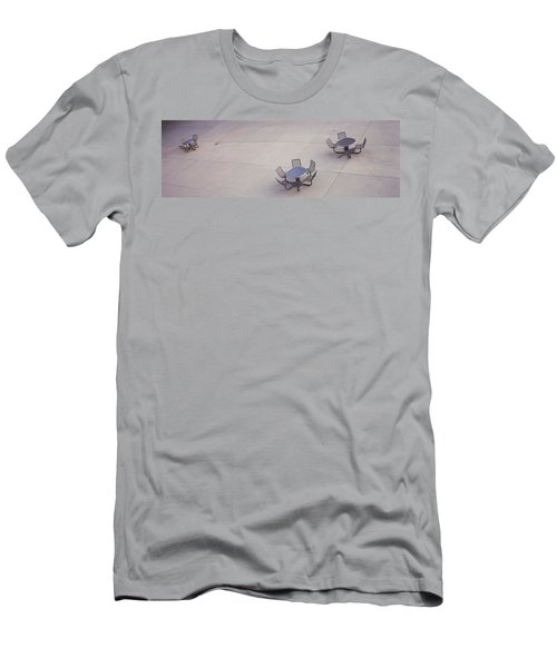 High Angle View Of Tables And Chairs Men's T-Shirt (Athletic Fit)