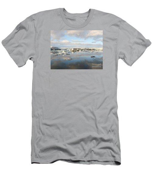 Jokulsarlon Glacier Lagoon Men's T-Shirt (Slim Fit) by IPics Photography