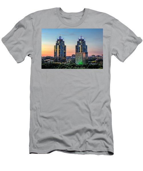 Men's T-Shirt (Slim Fit) featuring the photograph King And Queen Buildings by Anna Rumiantseva