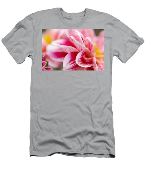 Macro Image Of A Pink Flower Men's T-Shirt (Athletic Fit)