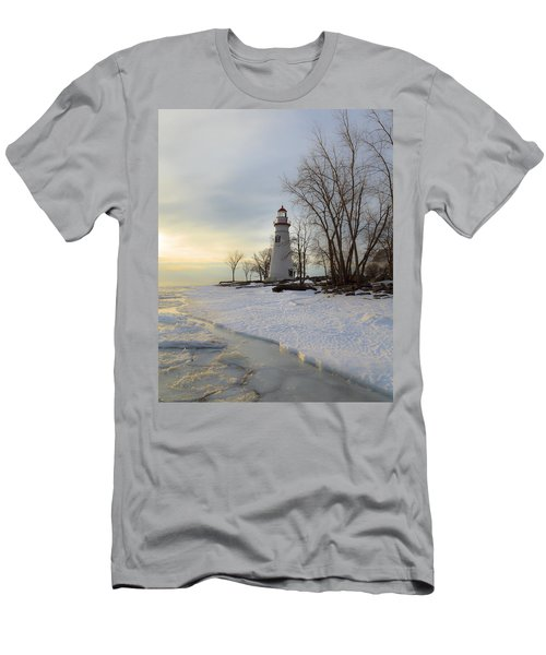 Marblehead Lighthouse Winter Sunrise Men's T-Shirt (Athletic Fit)