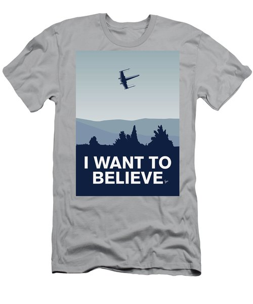 My I Want To Believe Minimal Poster-xwing Men's T-Shirt (Athletic Fit)