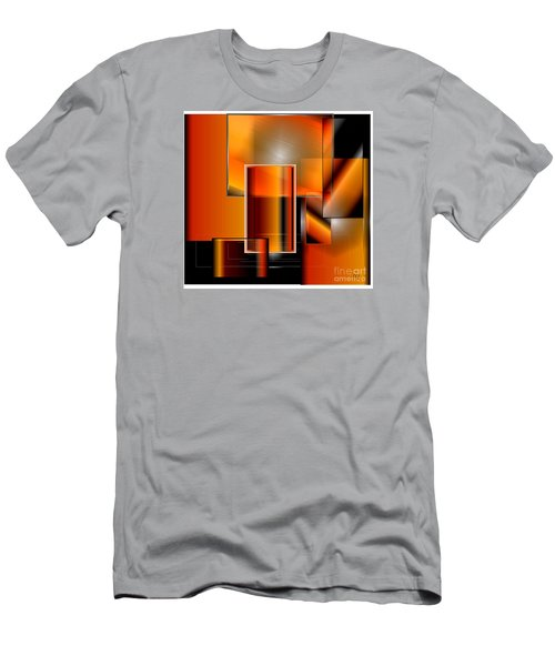 Orange Men's T-Shirt (Slim Fit) by Iris Gelbart