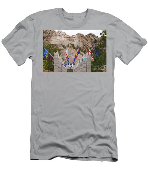 Patriotic Faces Men's T-Shirt (Slim Fit) by Mary Carol Story