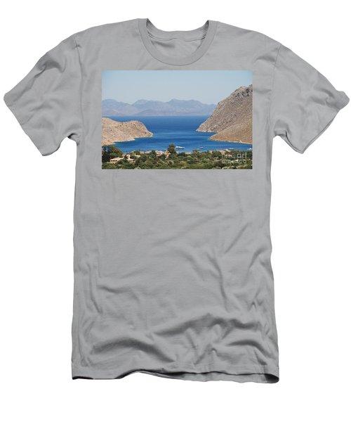 Pedi Bay Symi Men's T-Shirt (Athletic Fit)