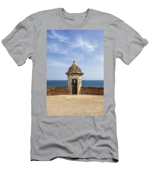 Men's T-Shirt (Athletic Fit) featuring the photograph Sentry Box In Old San Juan Puerto Rico by Bryan Mullennix