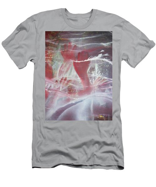 Men's T-Shirt (Slim Fit) featuring the painting String Theory - Praise by Carrie Maurer