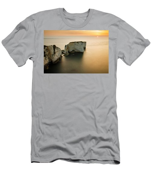 Sunrise Old Harry Rocks Men's T-Shirt (Athletic Fit)