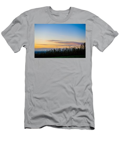 Sunset Over The Field Men's T-Shirt (Athletic Fit)