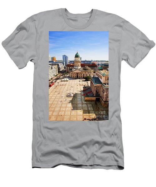 The Gendarmenmarkt And German Cathedral In Berlin Men's T-Shirt (Athletic Fit)