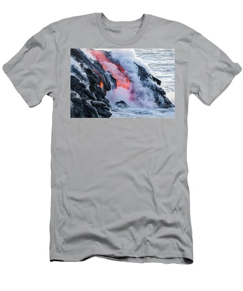 The Pahoehoe Lava Flowing From Kilauea Men's T-Shirt (Athletic Fit)
