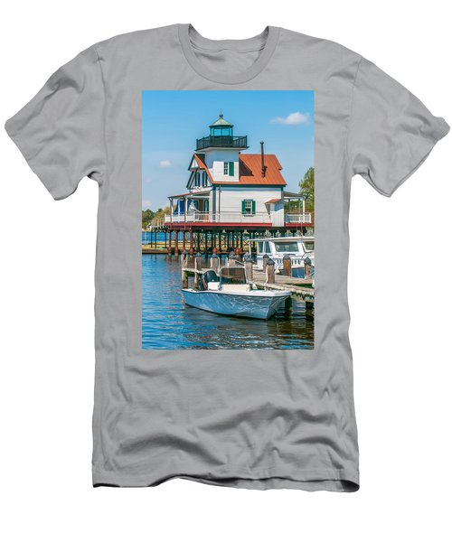 Town Of Edenton Roanoke River Lighthouse In Nc Men's T-Shirt (Athletic Fit)