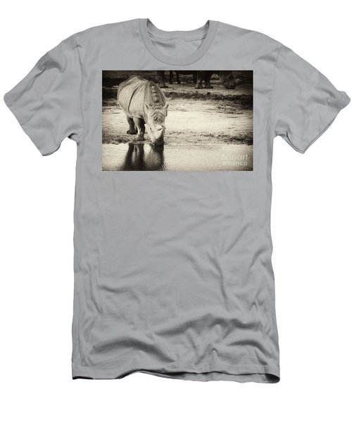 Two White Rhinos  Men's T-Shirt (Athletic Fit)