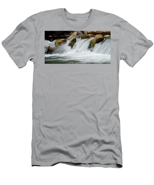 Waterfall - Zion National Park Men's T-Shirt (Athletic Fit)