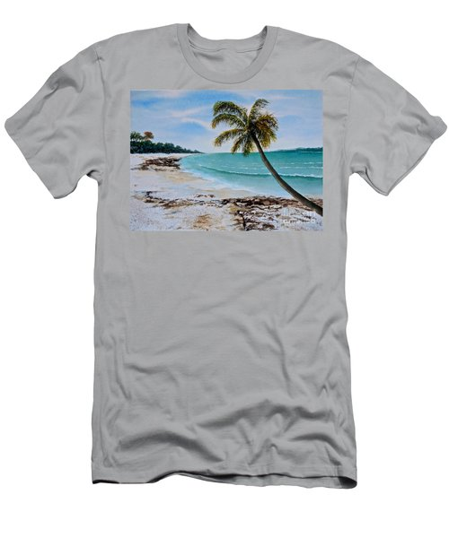 Men's T-Shirt (Slim Fit) featuring the painting West Of Zanzibar by Sher Nasser