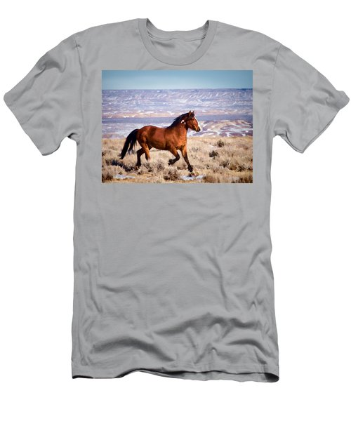 Eagle - Wild Horse Stallion Men's T-Shirt (Slim Fit) by Nadja Rider