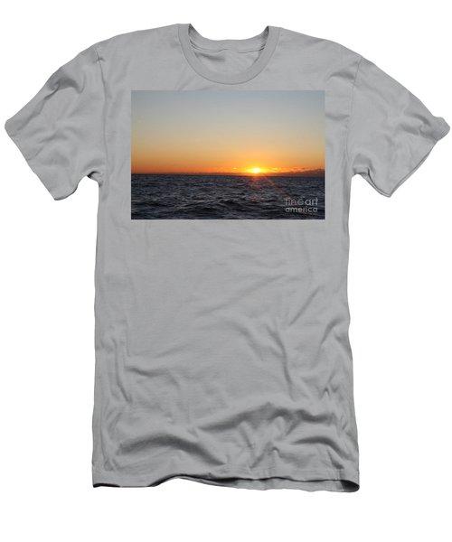 Winter Sunrise Over The Ocean Men's T-Shirt (Athletic Fit)