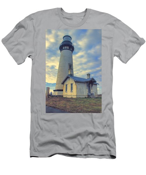 Yaquina Head Lighthouse Men's T-Shirt (Slim Fit) by Cathy Anderson