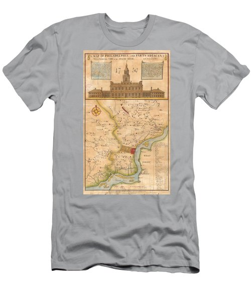 1752  Scull  Heap Map Of Philadelphia And Environs Men's T-Shirt (Athletic Fit)