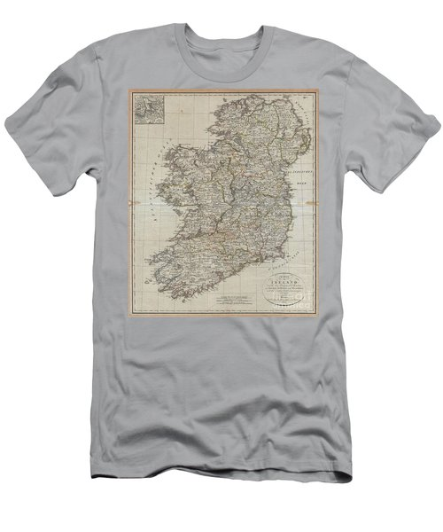 1804 Jeffreys And Kitchin Map Of Ireland Men's T-Shirt (Athletic Fit)