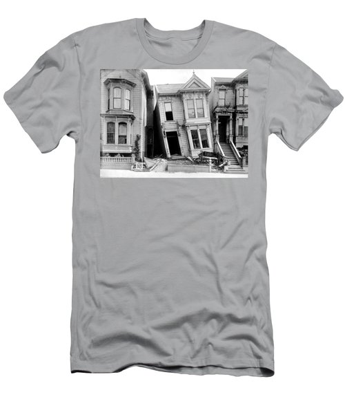 1906 Earthquake Damages Homes Men's T-Shirt (Athletic Fit)