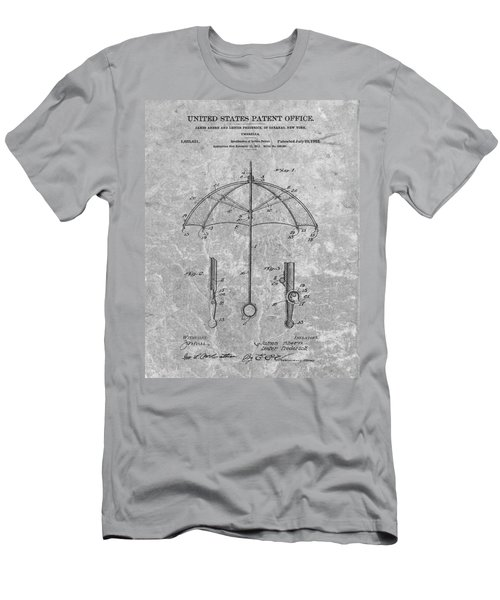 1912 Umbrella Patent Charcoal Men's T-Shirt (Athletic Fit)
