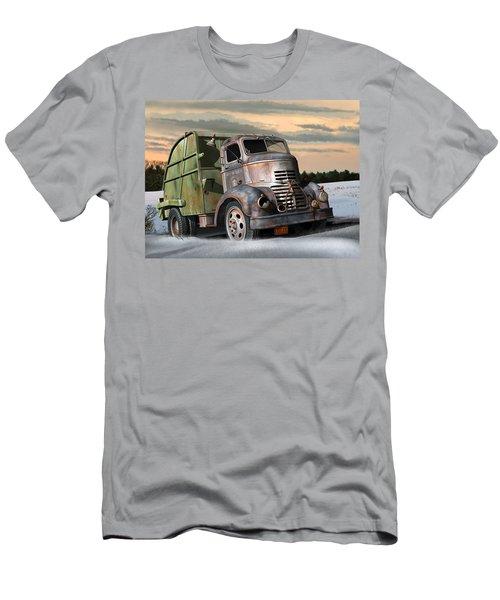 1940 Gmc Garbage Truck Men's T-Shirt (Slim Fit) by Stuart Swartz