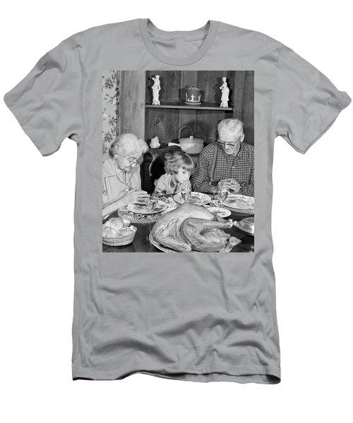 1950s Family Thanksgiving Dinner Men's T-Shirt (Athletic Fit)