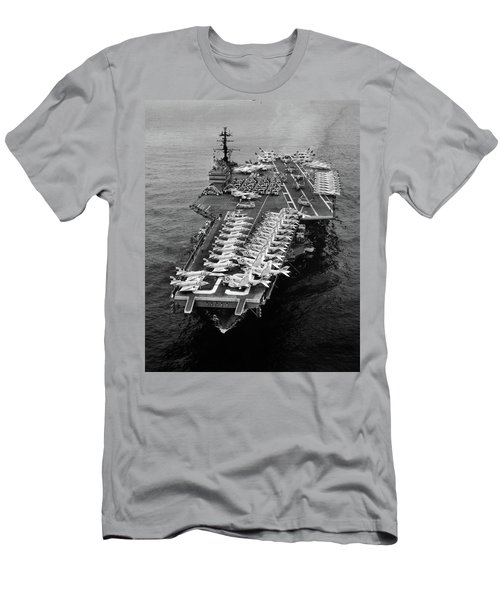 1960s Aerial Of Uss Saratoga Aircraft Men's T-Shirt (Athletic Fit)