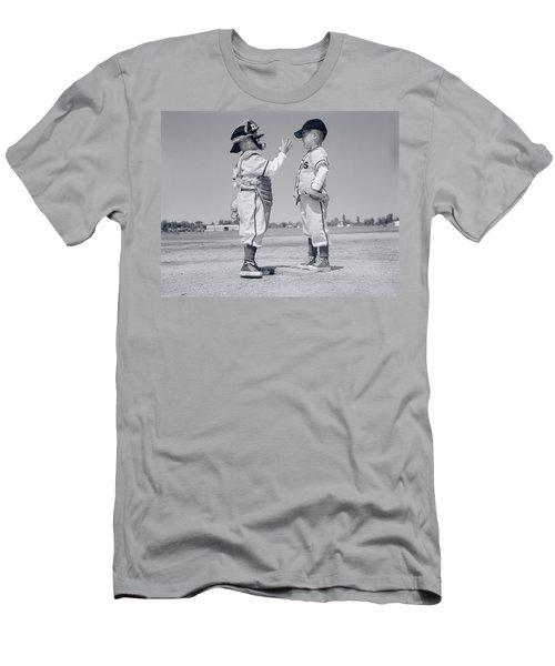 1960s Boy Little Leaguer Pitcher Men's T-Shirt (Athletic Fit)