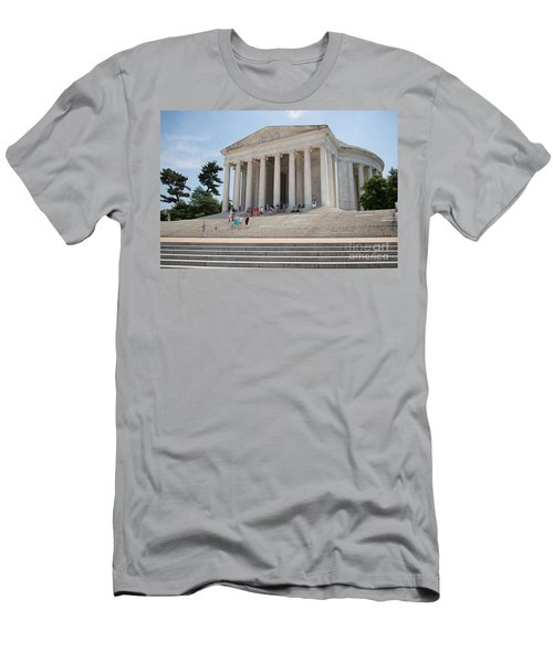 Thomas Jefferson Memorial Men's T-Shirt (Slim Fit) by Carol Ailles