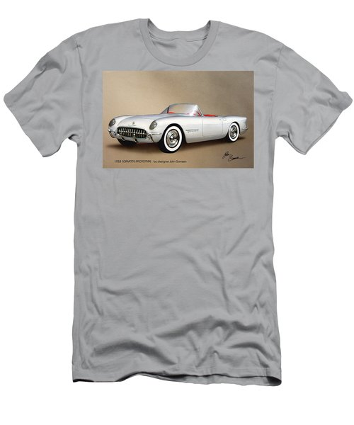 1953 Corvette Classic Vintage Sports Car Automotive Art Men's T-Shirt (Athletic Fit)
