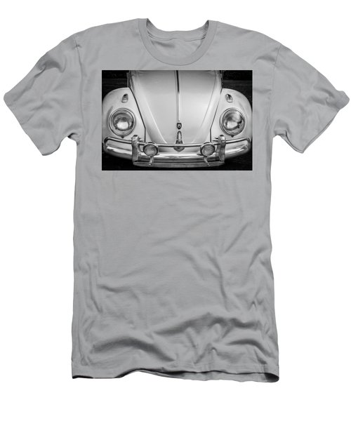 1960 Volkswagen Beetle Vw Bug   Bw Men's T-Shirt (Athletic Fit)