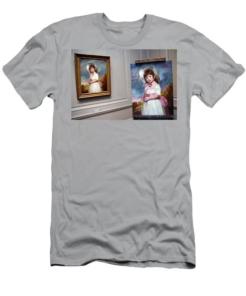 Men's T-Shirt (Slim Fit) featuring the photograph A Painting Of A Painting by Cora Wandel