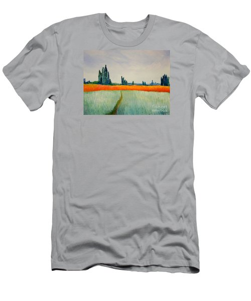 Men's T-Shirt (Slim Fit) featuring the painting After Monet by Bill OConnor
